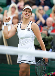 LONDON, ENGLAND - Thursday, June 27, 2013: Marina Erakovic (AUS) celebrates after winning during the Ladies' Singles 2nd Round match on day four of the Wimbledon Lawn Tennis Championships at the All England Lawn Tennis and Croquet Club. (Pic by David Rawcliffe/Propaganda)
