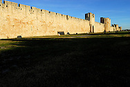 France, Languedoc Roussillon, Gard, Aigues-Mortes, les remparts