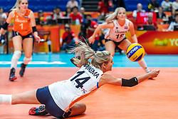 03-10-2018 JPN: World Championship Volleyball Women day 6, Yokohama<br /> Netherlands - Mexico 3-0 / Laura Dijkema #14 of Netherlands