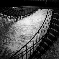 Inside view of the stairwell of the Currituck Lighthouse in Corolla, North Carolina, Outer Banks USA