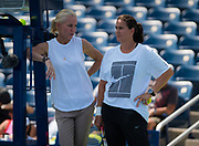 Rennae Stubbs and Conchita Martinez during Karolina Pliskova's practice at the 2018 US Open Grand Slam tennis tournament, New York, USA, August 26th 2018, Photo Rob Prange / SpainProSportsImages / DPPI / ProSportsImages / DPPI
