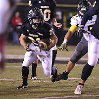 Lauren Wood | Buy at photos.djournal.com<br /> Pontotoc's Gabe Harmon finds the pocket during Friday night's game against Itawamba.