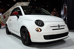 12 February 2015:  2015 FIAT 500 RIBELLE  On exhibit at the 2015 Chicago Auto Show are the 2015 .<br /> <br /> First staged in 1901, the Chicago Auto Show is the largest auto show in North America and has been held more times than any other auto exposition on the continent. The 2015 show marks the 107th edition of the Chicago Auto Show. It has been  presented by the Chicago Automobile Trade Association (CATA) since 1935.  It is held at McCormick Place, Chicago Illinois