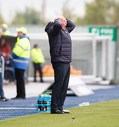 Falkirk's manager Peter Houston. Falkirk 2 v 1 Dunfermline, Scottish Championship game played 15/10/2016, at The Falkirk Stadium.