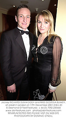 Jockey RICHARD DUNWOODY and MISS GEORGIA BLAKEY, at a ball in London on 17th December 2001.OWJ 40