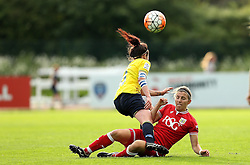 Grace McCatty defender for Bristol City Women tackles Lauren Haynes of Oxford United - Mandatory by-line: Robbie Stephenson/JMP - 25/06/2016 - FOOTBALL - Stoke Gifford Stadium - Bristol, England - Bristol City Women v Oxford United Women - FA Women's Super League 2