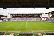 Turf Moor before the arrival of the fans before the Sky Bet Championship match between Burnley and Charlton Athletic at Turf Moor, Burnley, England on 19 December 2015. Photo by Mark Pollitt.