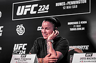 March 20, 2018 - Brazil - RIO DE JANEIRO, RJ - 20.03.2018: COLETIVA UFC 224 NUNES X PENNINGTON - Raquel Pennington during the press conference for the UFC 224 sales opening announcement: Nunes x Pennington, event scheduled for May 12 at Jeunesse Arena in Rio de Janeiro. (Credit Image: © Fotoarena via ZUMA Press)