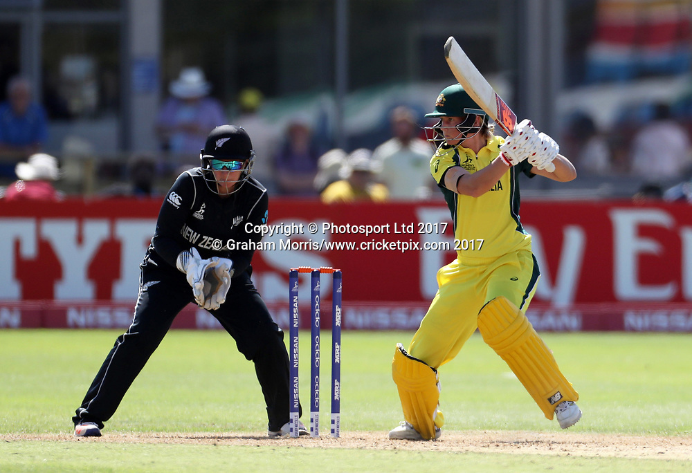 Meg Lanning bats during the Women's World Cup fifty over match between Australia and New Zealand at the County Ground, Bristol. Photo: Graham Morris /www.photosport.nz
