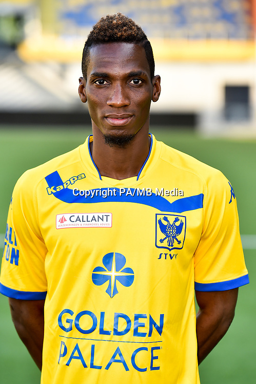 STVV's Bagayoko Mamadou poses for the photographer during the 2015-2016 season photo shoot of Belgian first league soccer team STVV, Friday 17 July 2015 in Sint-Truiden.