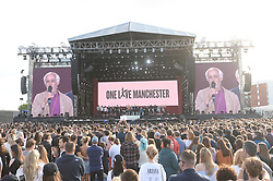 The One Love Manchester tribute concert held at Emirate Old Trafford arena in honour of the victims of the terrorist attack at an Ariana Grande concert on the 22nd May 2017. Various acts including Ariana Grande, Katy Perry, Justin Bieber and Miley Cyrus performed. Pictures courtesy of Dave Hogan for One Love Manchester. 04 Jun 2017 Pictured: Ariana Grande, Miley Cyrus, Liam Gallagher, Coldplay, Black Eyed Peas, Take That, Marcus Mumford, Pharrell Williams, Niall Horan, Little Mix, Imogen Heap, Mac Miller, Justin Bieber,. Photo credit: MEGA TheMegaAgency.com +1 888 505 6342
