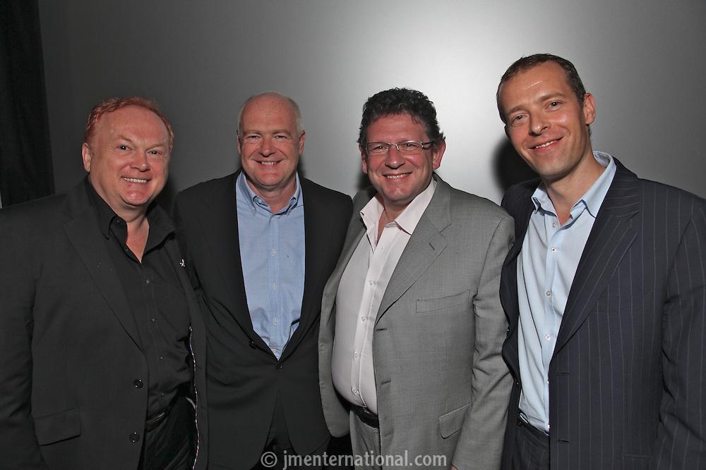 Mike Batt Deputy Chairman BPI, Tony Wadsworth - Chairman, BPI., Lucian Grainge, chairman and chief executive, Universal Music Group International and Geoff Taylor, BPI CEO.