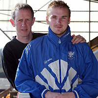 St Johnstone Manager Billy Stark with Ryan Stevenson who he has signed on a two year deal from Chelsea....<br /><br />see story by Gordon Bannerman Tel:01738 553978<br /><br />Picture by Graeme Hart.<br />Copyright Perthshire Picture Agency<br />Tel: 01738 623350  Mobile: 07990 594431