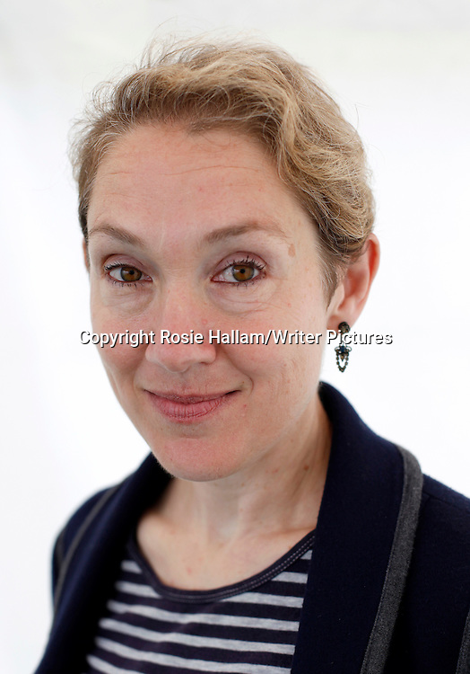 Author Justine Picardie at the Hay Literary Festival.