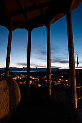 """Truckee Rocking Stone Sunrise""- This sunrise over Truckee, CA was photographed from the rocking stone tower."