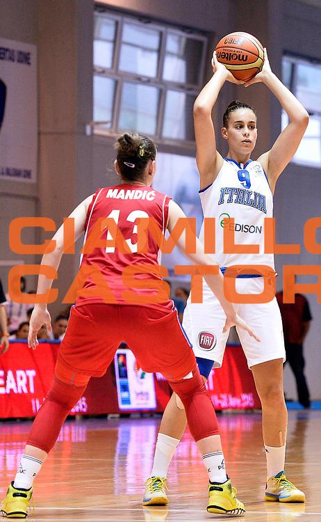 DESCRIZIONE : Udine U20 Campionato Europeo Femminile Finale 3-4 posto Italia Serbia European Championship Women Final 3-4 Place Italy Serbia<br /> GIOCATORE : Sara Crudo<br /> CATEGORIA : passaggio<br /> SQUADRA : Italia Italy<br /> EVENTO : Udine U20 Campionato Europeo Femminile Finale 3-4 posto Italia Serbia European Championship Women Final 3-4 Place Italy Serbia<br /> GARA : Italia Serbia Italy Serbia<br /> DATA : 13/07/2014<br /> SPORT : Pallacanestro <br /> AUTORE : Agenzia Ciamillo-Castoria/R. Morgano<br /> Galleria : Europeo Under 20 Femminile <br /> Fotonotizia : Udine U20 Campionato Europeo Femminile Finale 3-4 posto Italia Serbia European Championship Women Final 3-4 Place Italy Serbia<br /> Predefinita :