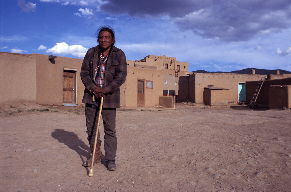 Native American man at Taos Pueblo, New Mexico, USA