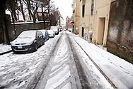 Roma 17 Dicembre 2010.Nevicata nella cittadina di Albano Laziale alle portedi  Roma.