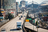 2018 FEBRUARY 12 - Alaskan Way Viaduct on a sunny day in Seattle, WA, USA. By Richard Walker