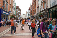 Grafton Street in Dublin Ireland, the city's main shopping street