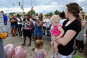 Aurora CO_21July2012 (at small unofficial vigil across Sable St from the theatre where shooting occurred )_photo: Patrick Downs for PeopleMag: <br />