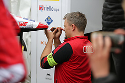 May 18, 2018 - Berlin, Germany - Formula e Berlin ePrix: The photo shows a technician in the box. (Credit Image: © Simone Kuhlmey/Pacific Press via ZUMA Wire)