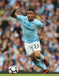 Gabriel Jesus of Manchester City - Mandatory by-line: Matt McNulty/JMP - 14/10/2017 - FOOTBALL - Etihad Stadium - Manchester, England - Manchester City v Stoke City - Premier League