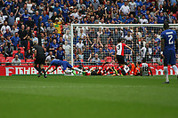 Football - 2017 / 2018 FA Cup - Semi Final: Chelsea vs. Southampton<br /> <br /> Olivier Giroud of Chelsea opens the scoring at Wembley Stadium <br /> <br /> COLORSPORT/SHAUN BOGGUST