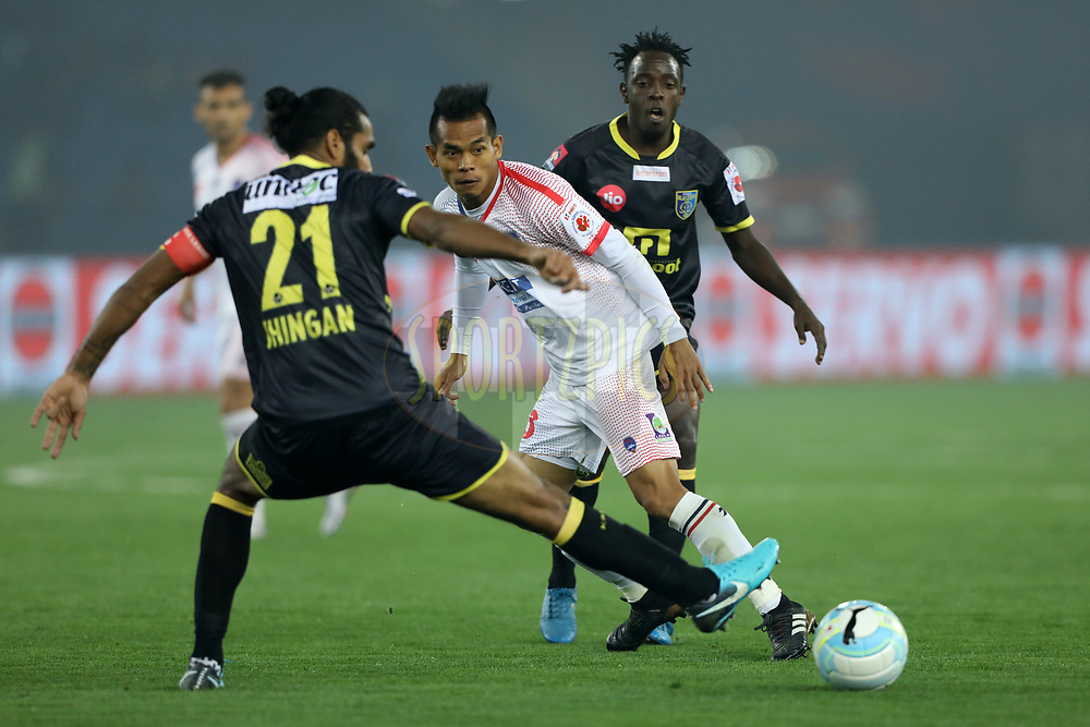 David Ngaihte of Delhi Dynamos FCduring match 43 of the Hero Indian Super League between Delhi Dynamos FC and Kerala Blasters FC  held at the Jawaharlal Nehru Stadium, Delhi, India on the 10th January 2018<br /> <br /> Photo by: Arjun Singh  / ISL / SPORTZPICS