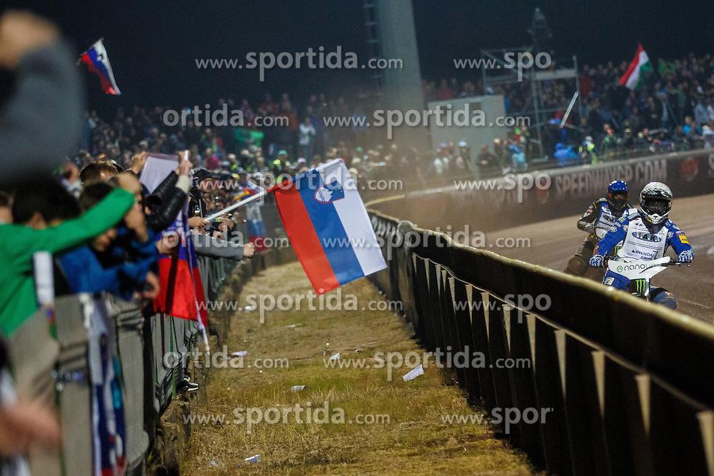 Andreas Jonsson of Sweden and MATEJ ZAGAR of Slovenia during FIM Speedway Grand Prix World Cup, Krsko, on 30. April, 2016, in Spo, rts park Krsko, Slovenia. Photo by Grega Valancic / Sportida
