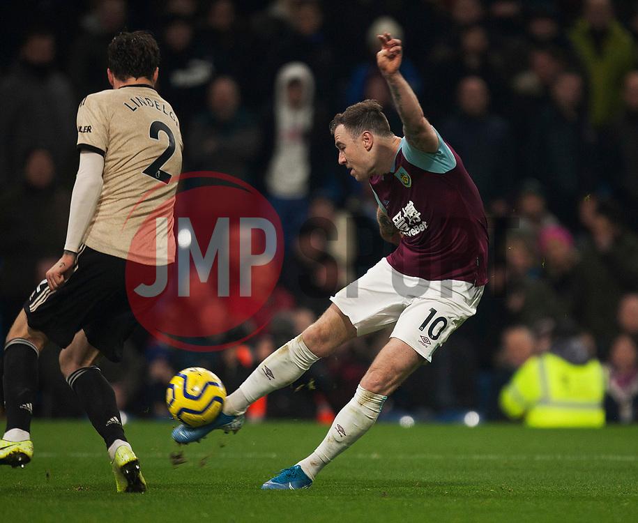 Ashley Barnes of Burnley has a shot at goal - Mandatory by-line: Jack Phillips/JMP - 28/12/2019 - FOOTBALL - Turf Moor - Burnley, England - Burnley v Manchester United - English Premier League