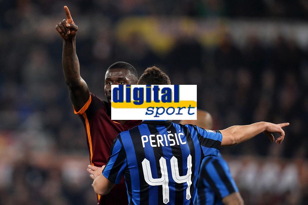 Antonio Rudiger Roma, Ivan Perisic Inter <br /> Roma 19-03-2016 Stadio Olimpico Football Calcio Serie A 2015/2016 AS Roma - Inter. Foto Andrea Staccioli / Insidefoto