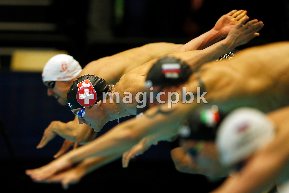 Erik VAN DOOREN of Switzerland competes in the men's 50m Freestyle Heats during the 17th European Short Course Swimming Championships held at the Jyske Bank BOXEN in Herning, Denmark, Thursday, Dec. 12, 2013. (Photo by Patrick B. Kraemer / MAGICPBK)