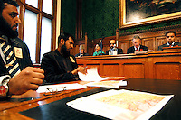 LONDON 9 Nov. 2005...Panel from left to right, Dr. Maleeha Lodhi, High Commissioner of Pakistan, Waseem Yaqub, UK Manager, Islamic Relief, Rt. Hon. Hilary Benn, Secretary of State for International Development, Shahid Malik MP, Vice Chair to the APPG on Kashmir....The Justice Foundation Kashmir Centre London together with the All-Party Parliamentary Group (APPG) on Kashmir organised a meeting in the House of Commons entitled ?Kashmir After the Earthquake ? Rebuilding Together.