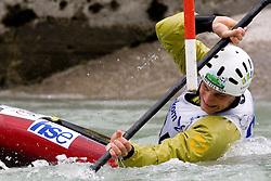 Simon Artelj of KKK Tacen competes in the Men's Kayak K-1 at kayak & canoe slalom race on May 9, 2010 in Tacen, Ljubljana, Slovenia. (Photo by Vid Ponikvar / Sportida)