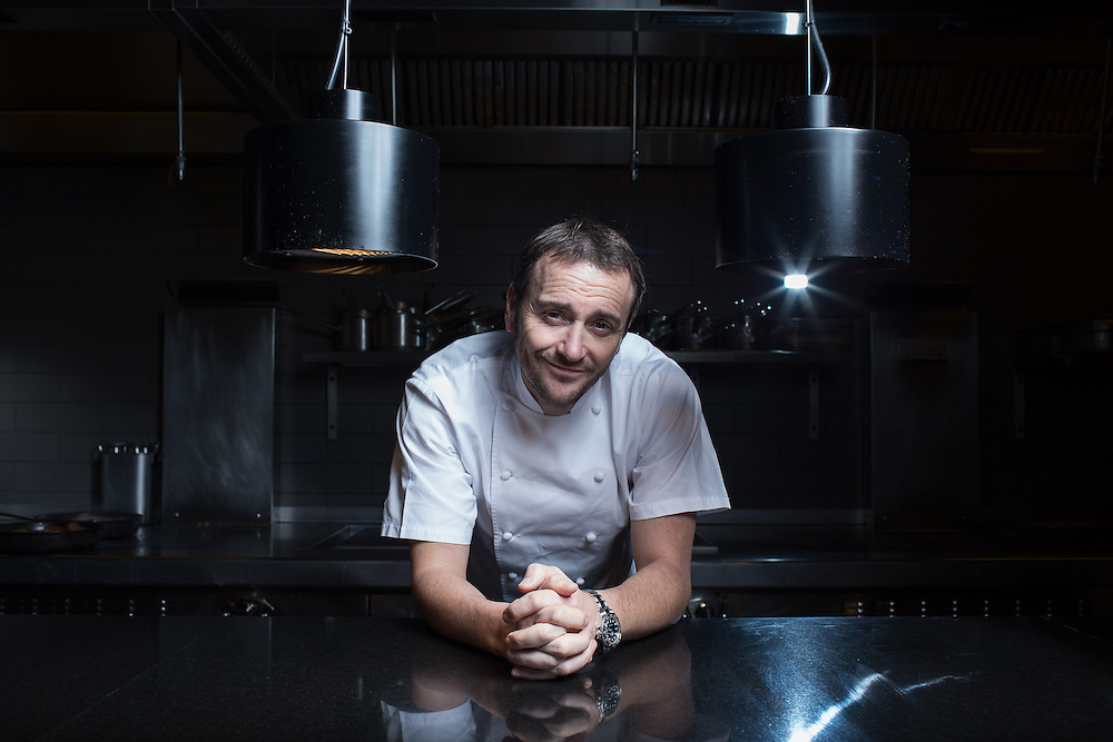"Chef Jason Atherton poses for portraits at his  restaurant Berners Tavern ahead of his new tv show ""My Kitchen Rules"" on Thursday 19th December."