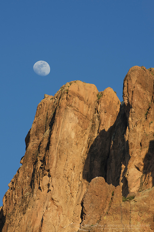 Moon over the Superstition Mountains, Arizona