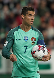 September 3, 2017 - Budapest, Hungary - Cristiano Ronaldo of Portugal with ball during the World Cup qualification match between Hungary and Portugal at Groupama Arena on Nov 03, 2017 in Budapest, Hungary. (Credit Image: © Robert Szaniszlo/NurPhoto via ZUMA Press)