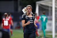 Olympique Lyonnais´s Hegerberg celebrates a goal (0-2) during UEFA Women´s Champions League soccer match between Atletico de Madrid and Olympique Lyonnais, in Madrid, Spain. November 11, 2015. (ALTERPHOTOS/Victor Blanco)