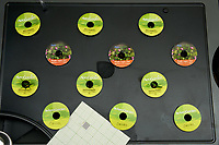 AeroGarden Farm 2 Left. at 10 days. Peppers (Mini Jalapeno, Purple Super Hot, Red Fire), and Chives. Image taken with a Leica TL-2 camera and 35 mm f/1.4 lens.