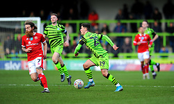 Jack Aitchison of Forest Green Rovers takes on Stuart Sinclair of Walsall- Mandatory by-line: Nizaam Jones/JMP - 08/02/2020 - FOOTBALL - New Lawn Stadium - Nailsworth, England - Forest Green Rovers v Walsall - Sky Bet League Two