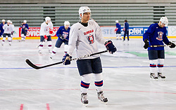 Marcel Rodman during practice session of Slovenian National Ice Hockey team first time in Arena Stozice before 2012 IIHF World Championship DIV I Group A in Slovenia, on April 13, 2012, in Arena Stozice, Ljubljana, Slovenia. (Photo by Vid Ponikvar / Sportida.com)