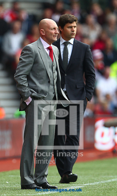 Picture by Paul Terry/Focus Images Ltd +44 7545 642257<br /> 28/09/2013<br /> Mauricio Pochettino ( R ), Manager of Southampton and Ian Holloway, Manager of Crystal Palace during the Barclays Premier League match at the St Mary's Stadium, Southampton.