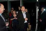Vicente Todoli, Reception, private view and dinner.; Juan Munoz- A Retrospective. Tate Modern. -DO NOT ARCHIVE-© Copyright Photograph by Dafydd Jones. 248 Clapham Rd. London SW9 0PZ. Tel 0207 820 0771. www.dafjones.com.