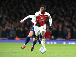 December 19, 2018 - London, England, United Kingdom - London, UK, 19 December, 2018.Eddie Nketiah of Arsenal.during Carabao Cup Quarter - Final between Arsenal and Tottenham Hotspur  at Emirates stadium , London, England on 19 Dec 2018. (Credit Image: © Action Foto Sport/NurPhoto via ZUMA Press)