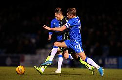 Billy Bodin of Bristol Rovers takes on Lee Martin of Gillingham - Mandatory by-line: Robbie Stephenson/JMP - 16/12/2017 - FOOTBALL - MEMS Priestfield Stadium - Gillingham, England - Gillingham v Bristol Rovers - Sky Bet League One