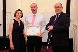 Lincolnshire Co-op long service awards 2018. Lincolnshire Co-op long service awards 2018. Lincolnshire Co-operative chief executive Ursula Lidbetter, left, and president Steve Hughes, right, present 25-year long service award to Simon Waite (Food Regional Manager at GMT)<br /> <br /> Picture: Chris Vaughan Photography for Lincolnshire Co-op<br /> Date: September 20, 2018