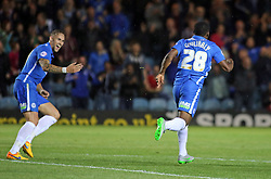Souleymane Coulibaly of Peterborough United celebrates scoring his goal - Mandatory byline: Joe Dent/JMP - 07966386802 - 18/08/2015 - FOOTBALL - ABAX Stadium -Peterborough,England - Peterborough United v Sheffield United - Sky Bet League One
