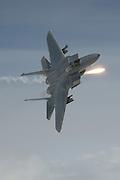 F-15C Eagle pops flares
