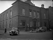 Protestant Churches around Dublin for Belfast Telegraph..Church at Gardiner St., Trinity, Now Used as a Labour Exchange..07/01/1956